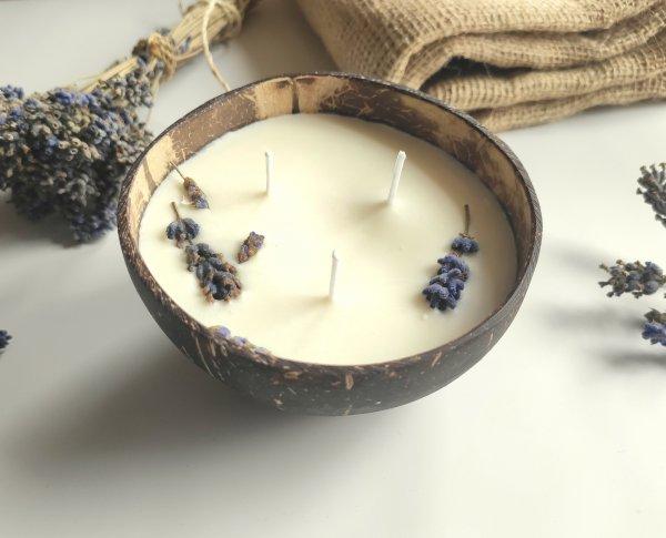 prírodná sójová sviečka